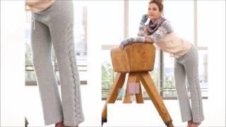 Вязаные брюки спицами