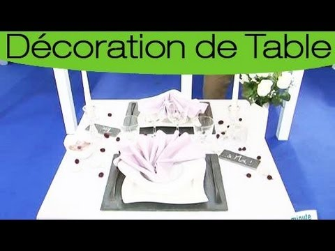 comment dresser une table romantique youtube. Black Bedroom Furniture Sets. Home Design Ideas