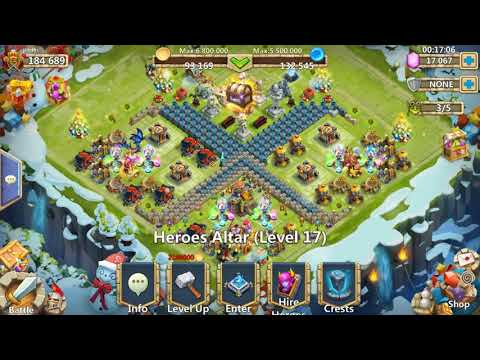 Castle Clash Rolling 35k Gems And Free Moltanica