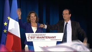 Ségolène Royal et François Hollande en meeting