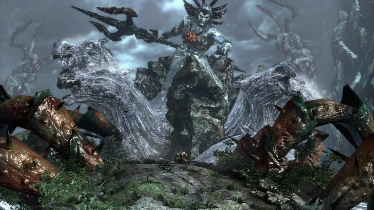 god of war iii remastered poseidon boss fight titan difficulty