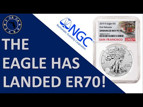 Opening A Perfect NGC PF70 American Eagle 2019 One Ounce Silver Enhanced Reverse Proof Coin