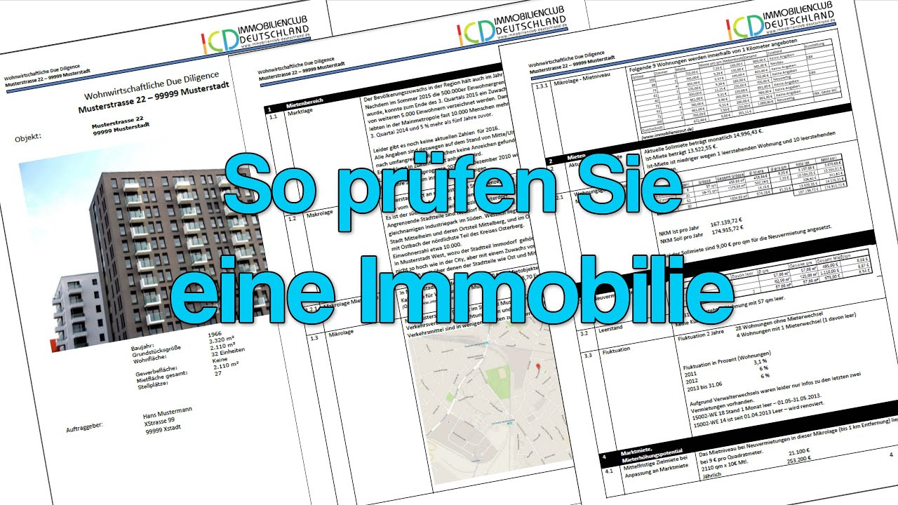 Immobilien Due Diligence Prufung Einer Immobilie Youtube