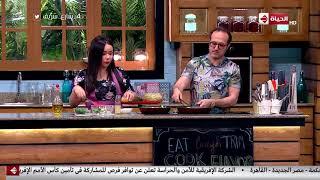 بالفيديو.. شريف مدكور يشارك في إعداد وجبة سمك فيليه