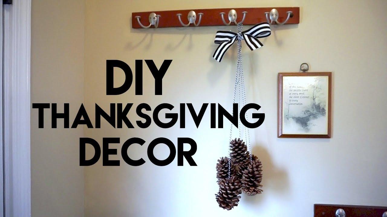 DIY Thanksgiving Decor: Pine Cone Wall Hanging & Air Freshener ...