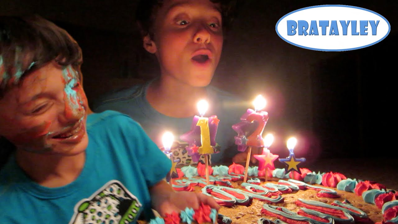 Birthday Cake To The Face Wk 184 5 Bratayley Youtube
