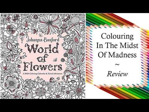 world-of-flowers-2020-wall-calendar-by-johanna-basford-|-review-and-flip-through