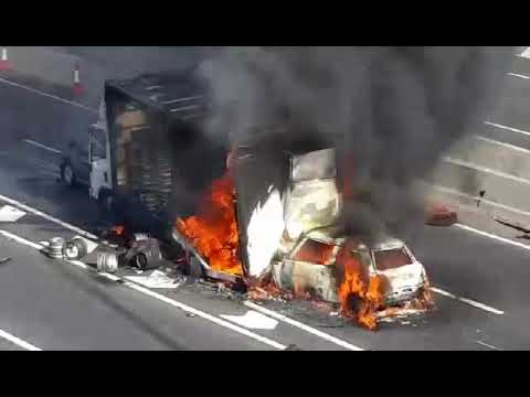 Vehicles on fire on Dartford Crossing