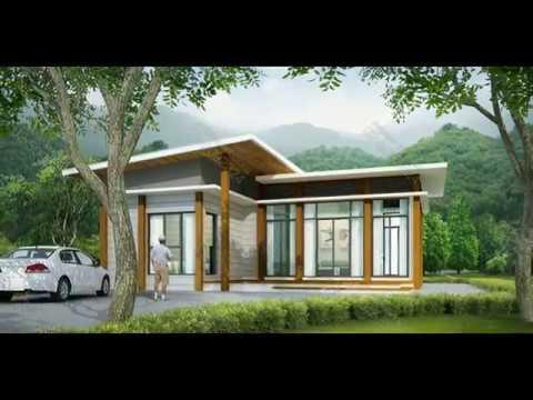 แบบบ้านชั้นเดียวฟรี แบบบ้านชั้นเดียว MODERN 2 ห้อง 1 ห้องน้ำ #plan.1