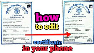 How to edit certificate and documents in Android phone