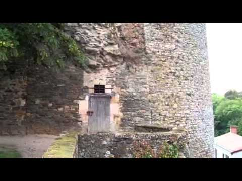Melusine Tower & medieval curtain wall.wmv