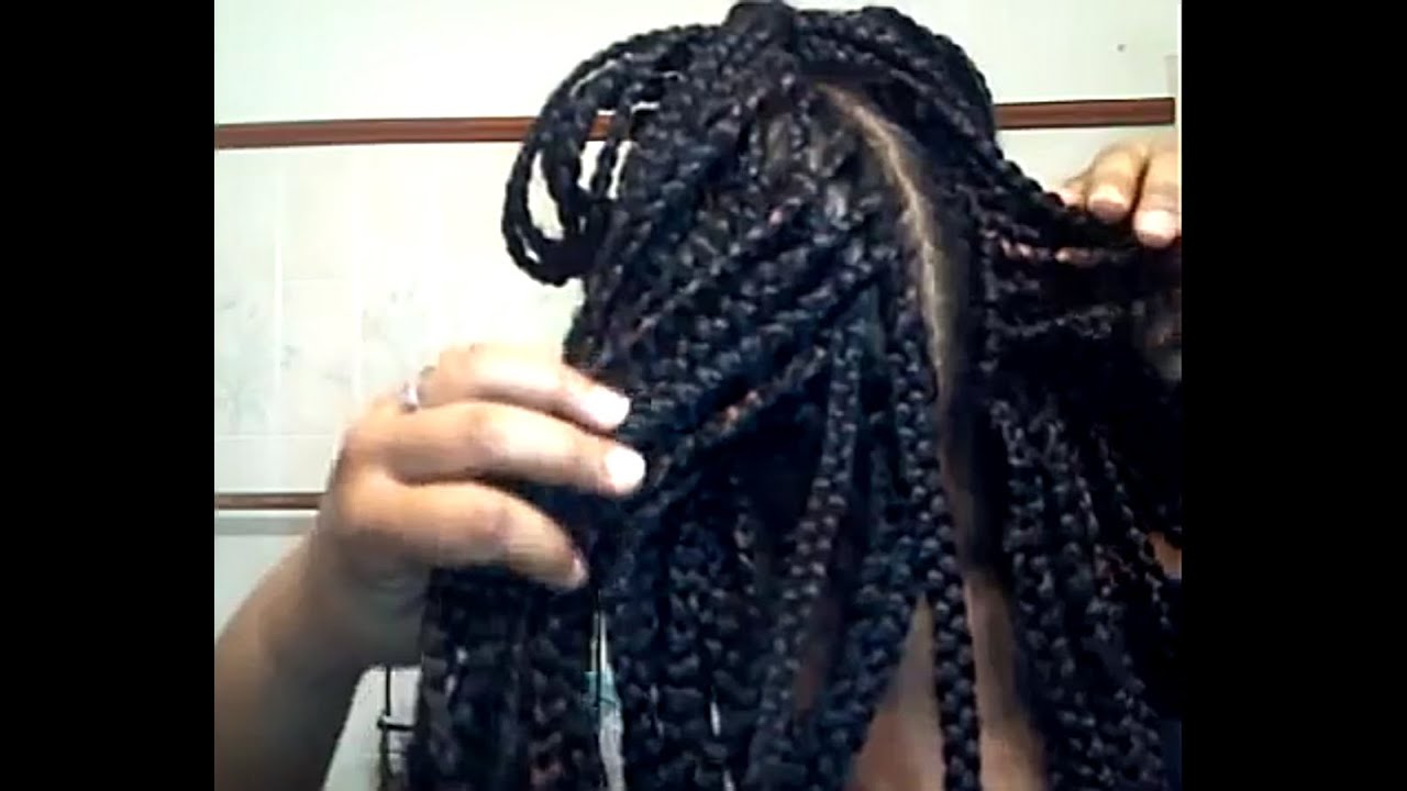Crochet Box Braids With Human Hair : Box Braids with Crochet Braids 3/15/13 - YouTube