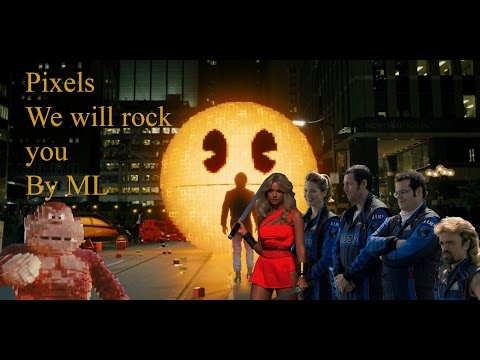 Pixels -- We Will Rock You (Queen)