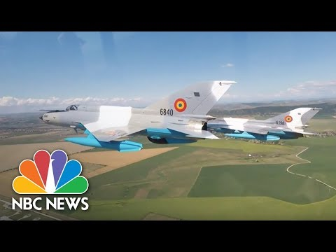 U.S Fighter Pilots Train In Romania Amid Tensions With Russia | NBC News