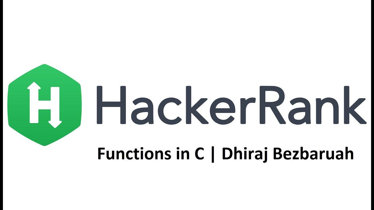 Functions in C | HackerRank Solution | C Programming For Beginners