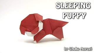 Origami DOG - Sleeping Puppy by Shoko Aoyagi - Origami easy tutorial