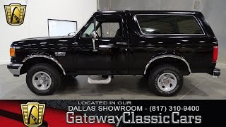 1991 Ford Bronco #272-DFW Gateway Classic Cars of Dallas