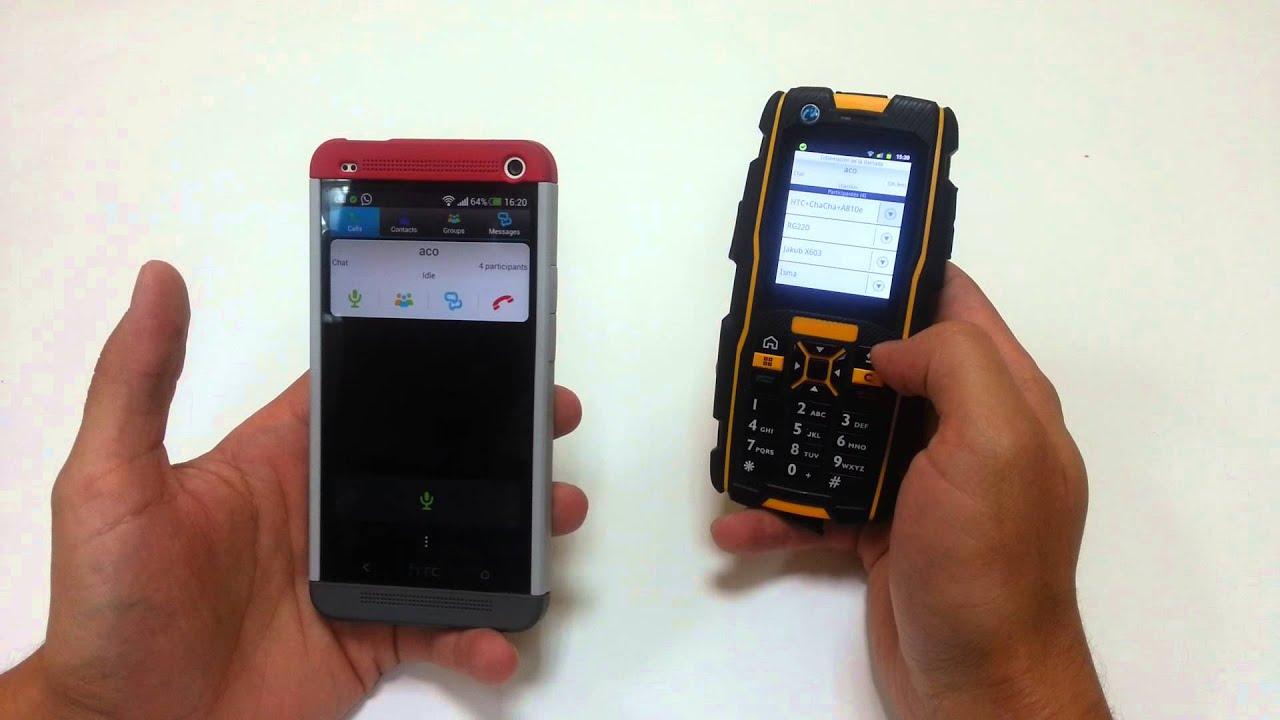 Azetti Push to talk PTT with rugged keyboard T9 phone