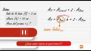 Cálculo del área de un Prisma: Ejercicio práctico - MasterD