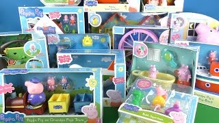2015 A lot of Peppa Pig Toys Compilation
