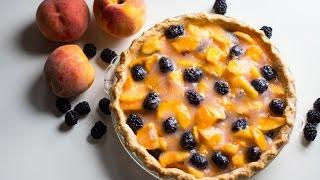 Peach & Blackberry Pie
