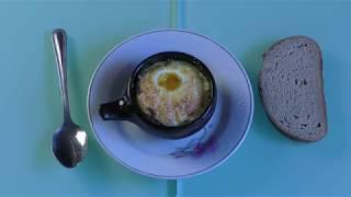 Яйцо Кокотт с шампиньоновым пюре