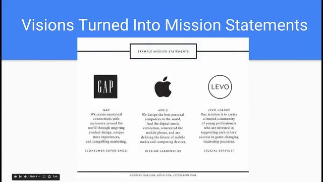 best vision and mission statements youtube