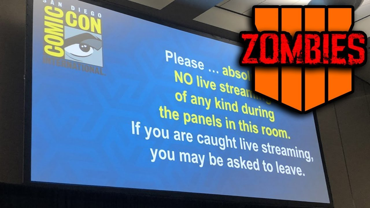 Treyarch LIVE! Comic Con Zombies Panel