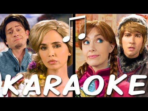 RAPUNZEL vs ANNA Karaoke (Princess Rap Battle) Instrumental Sing-along
