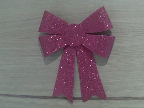 Como hacer un lazo navide o para decorar tu puerta con - Como hacer un arbol de papel grande ...