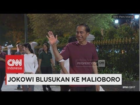 Ditemani Jan Ethes, Jokowi Blusukan ke Malioboro