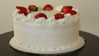 White Cake With Strawberries Decoration