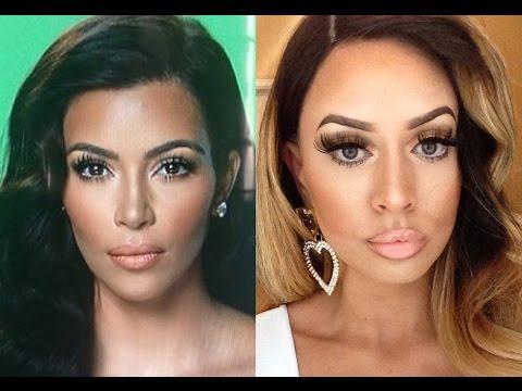 Kim Kardashian Makeup + Hair Tutorial Transformation!