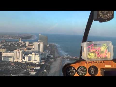 HELICOPTER RIDE - STEEL PIER, ATLANTIC CITY NJ - New Jersey Shore Ocean Beach View Travel Tour Guide