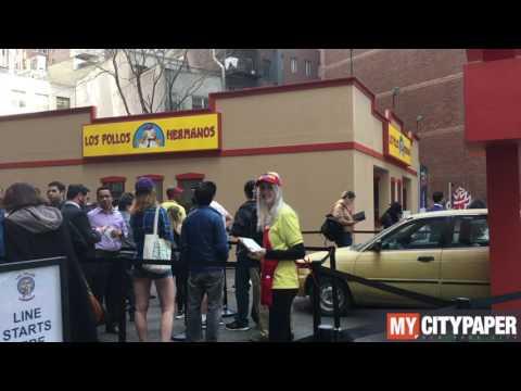 Los Pollos Hermanos pop-up restaurant in NYC