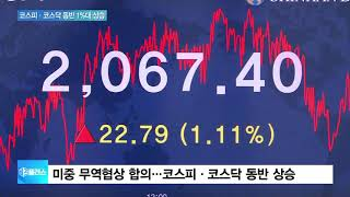 미중 무역협상 '미니딜'…코스피 장중 2070선 회복