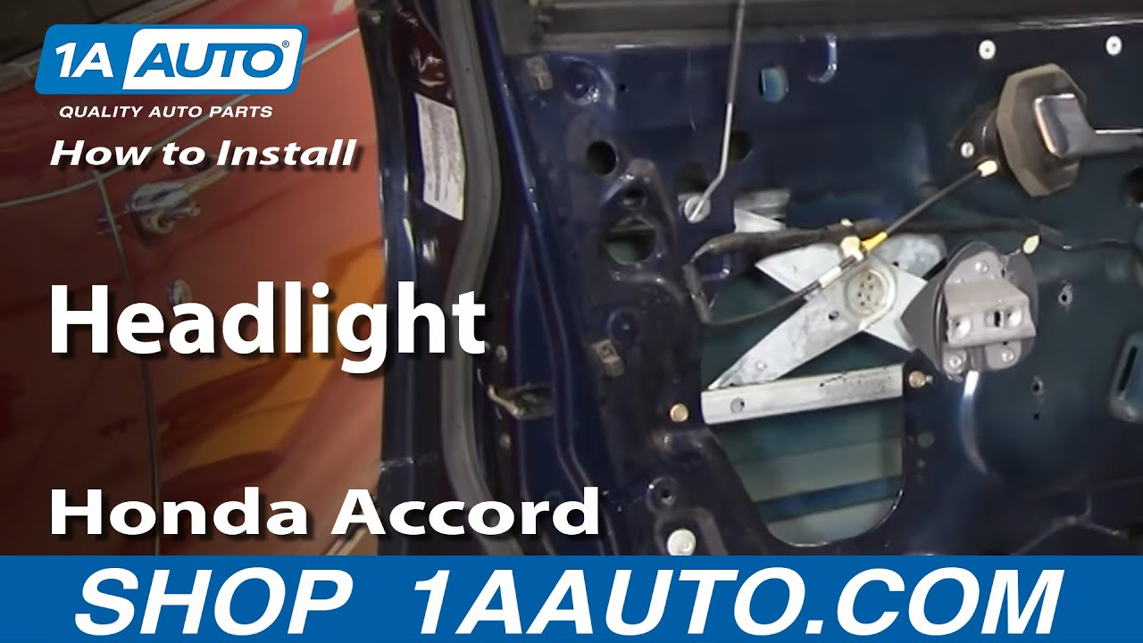 how to replace headlight 94 97 honda accord [ 1280 x 720 Pixel ]