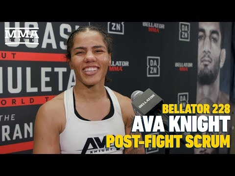 Boxer Ava Knight talks about her first MMA experience and not-close call at Bellator 228