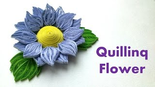 Quilling Flowers Tutorial: How to make Quilling  3D Flower. 3D Quilling.