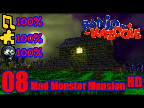 Banjo Kazooie HD 100% Walkthrough Part 8 - Mad Monster Mansion