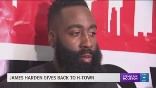 james harden gives back to h town