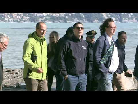 Portofino, uno dei locali distrutti dalla mareggiata