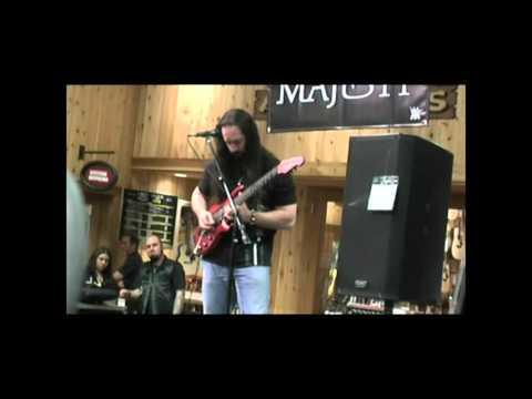 Petrucci playing enigma machine