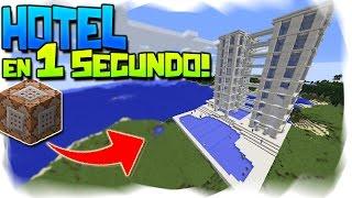 Minecraft | Como GENERAR un GRAN HOTEL de LUJO! con 1 solo click 👌 | SIN MODS!!! [1.11]