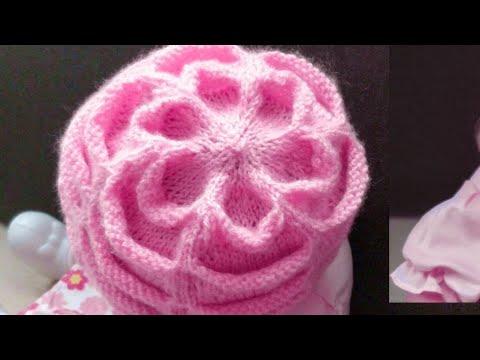 Knit Cute Baby 🌺 Flower Cap.Very Very Easy Hindi/English Subtitles