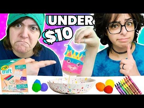 Cash or Trash? Testing 3 10$ Crayola Craft Kits Under 10$