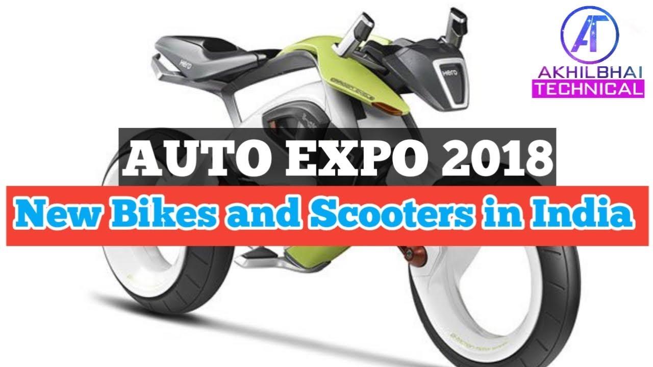 Auto Expo 2018 || Upcoming New Bikes and Scooters in India || From Hero  MotoCorp, Honda, Suzuki