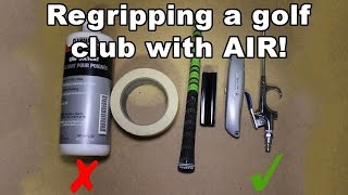 How to regrip a golf club - The Easy Way!