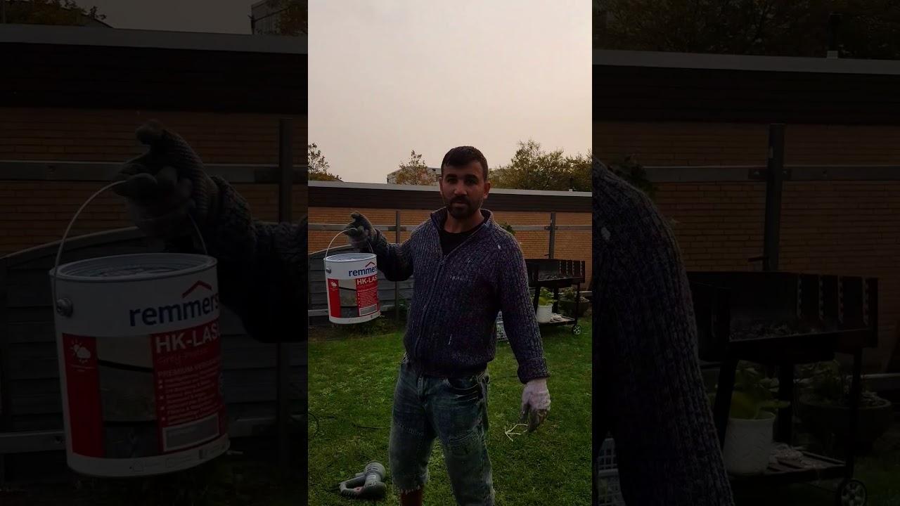 Holz Zaun Streichen Mit Spritzpistole Youtube