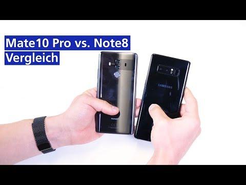 Samsung Galaxy Note 8 vs Huawei Mate 10 Pro im Vergleich (deutsch HD)